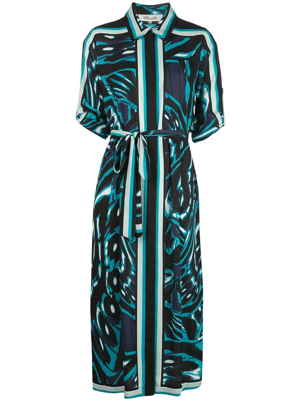Sogol Belted Midi Dress
