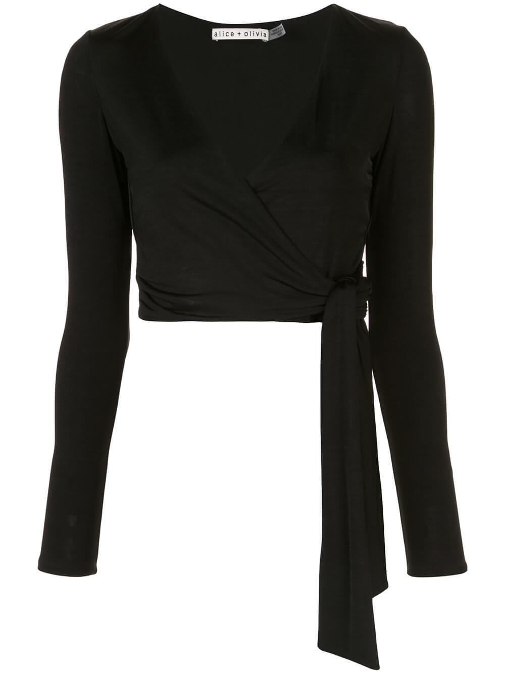 Nya Draped Tie Front Blouse