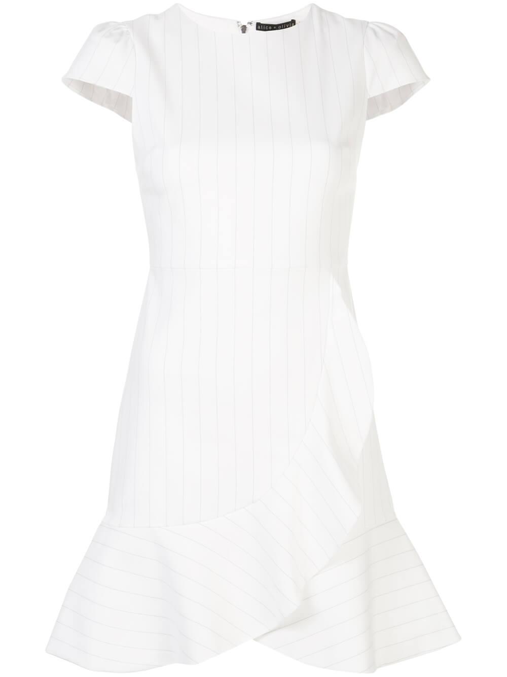 Kirby Stripe Ruffle Short Sleeve Dress