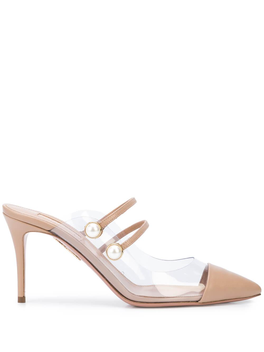 Oz Leather And Pvc 85mm Mule Item # OZFMIDS0-NPV