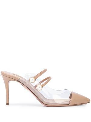 Oz Leather and PVC 85MM Mule