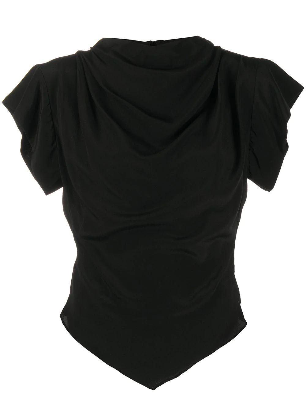 Cap Sleeve Solid Mock Neck Top