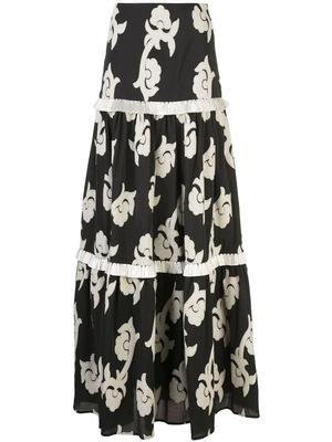 Surrey Embroidered Maxi Skirt
