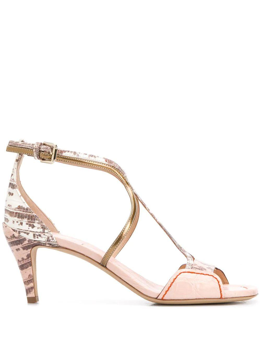 Carla 60MM Leather Strappy Sandal