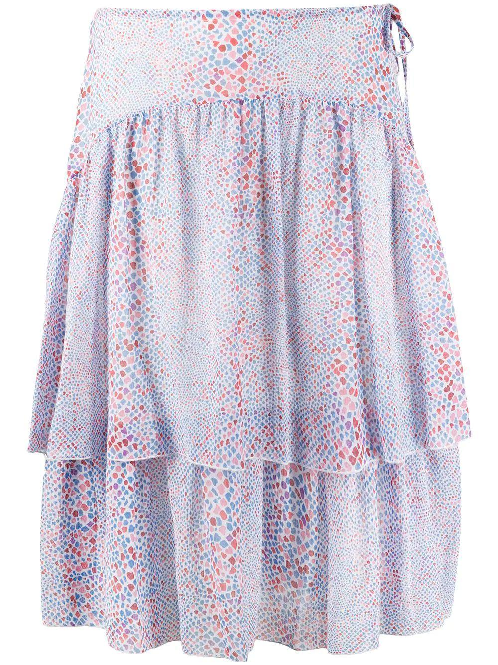 Python Print Silk Crepe Skirt