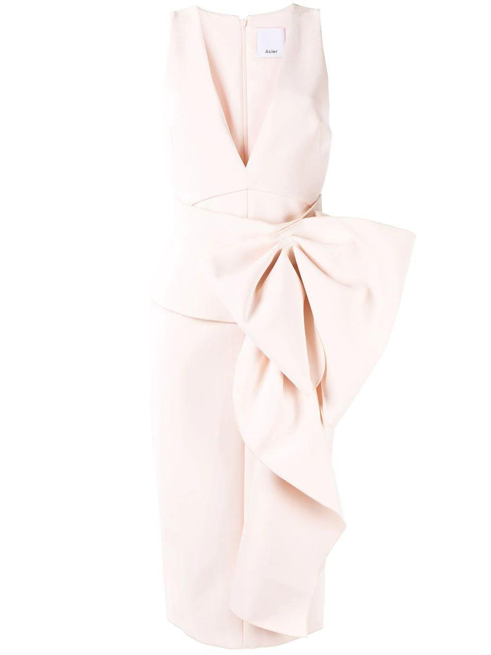 Mancroft Sleeve Less V-Neck Midi Dress