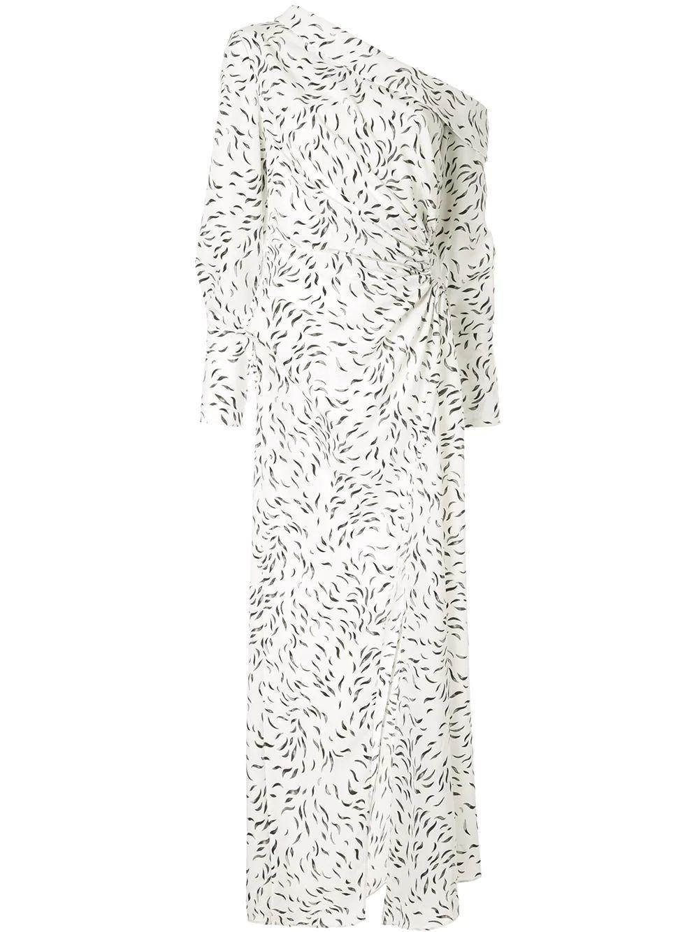 Sparrow Long Swirl Print Dress with Slit