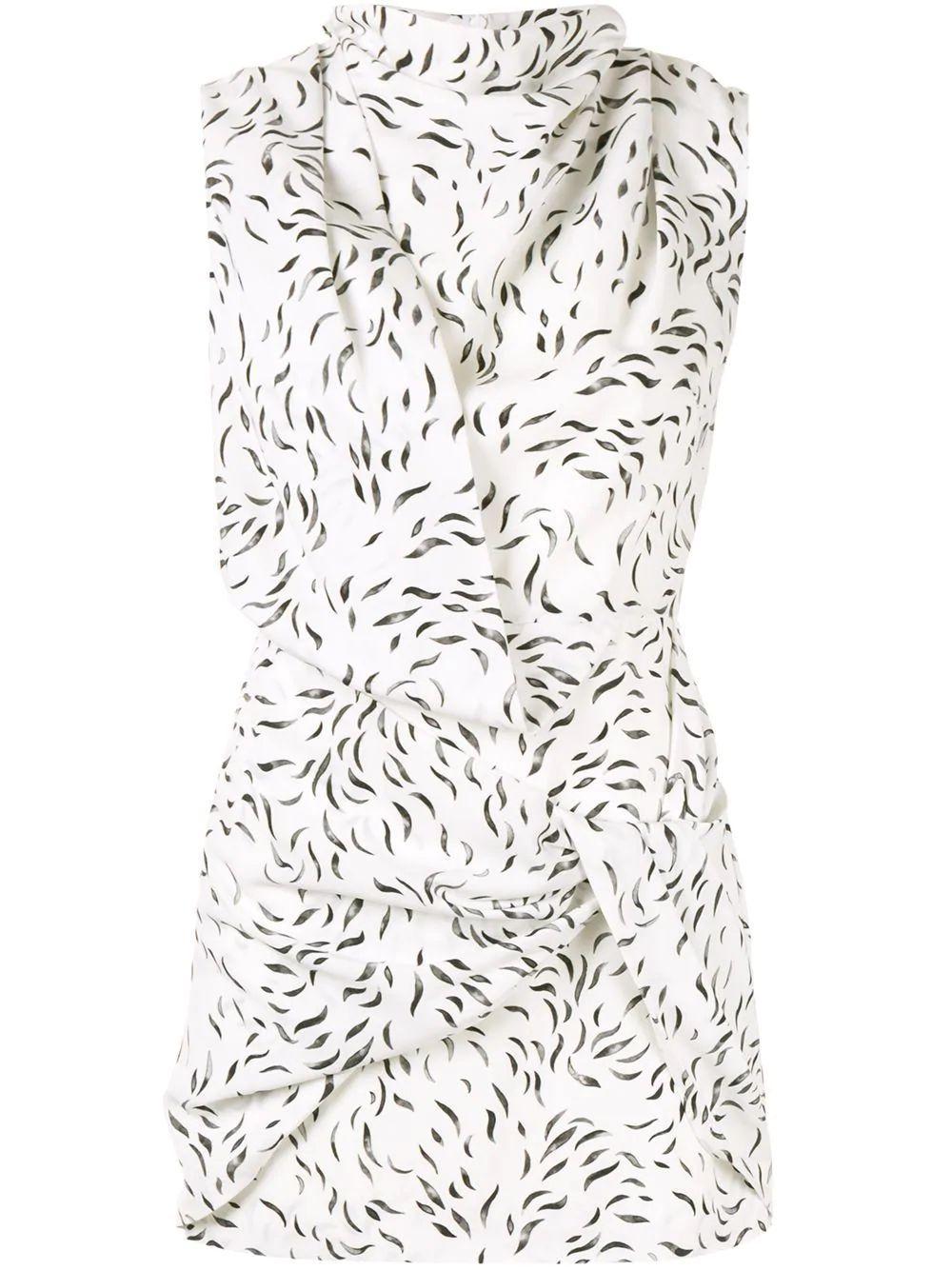 Jasper Sleeve Less Swirl Short Dress