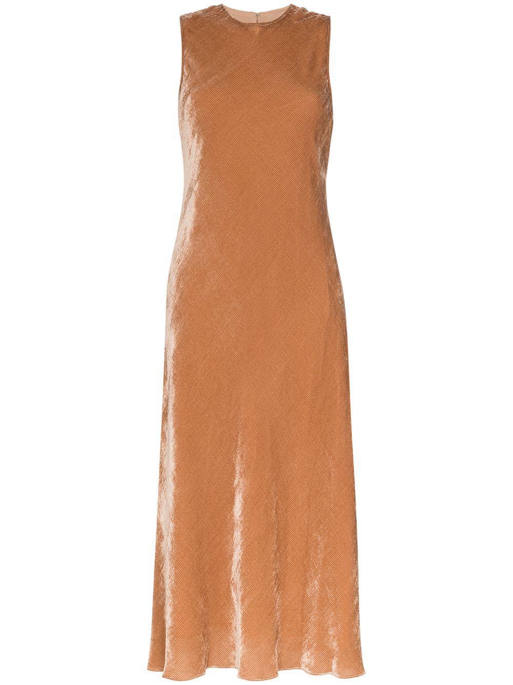 Viv Sleeve Less Velvet Cord Midi Dress