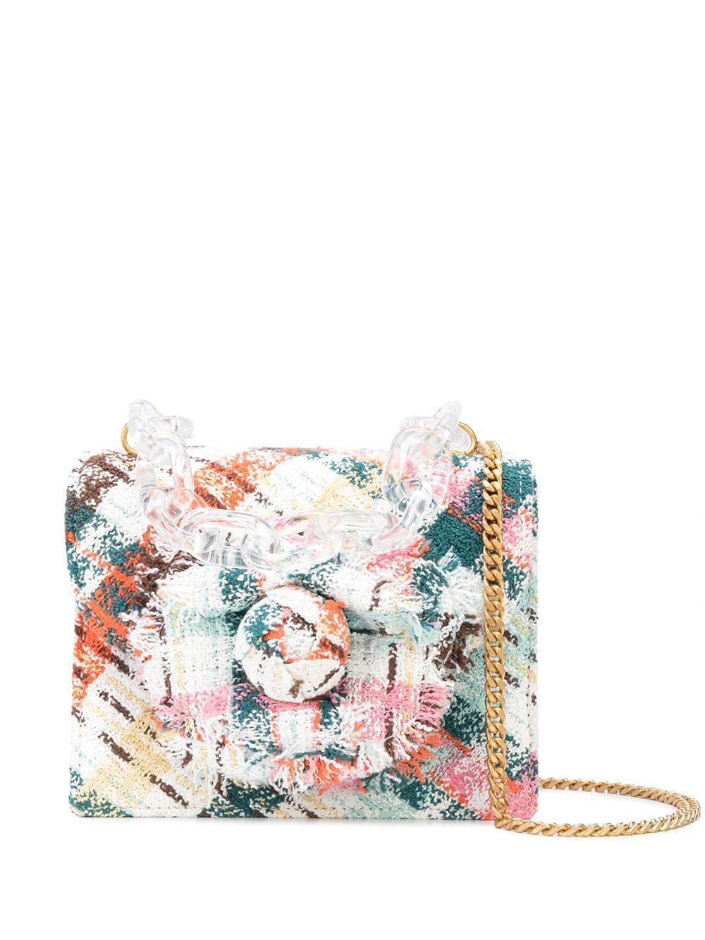 Mini Tro Plaid Tweed Bag With Chain Item # 20SH223PTD