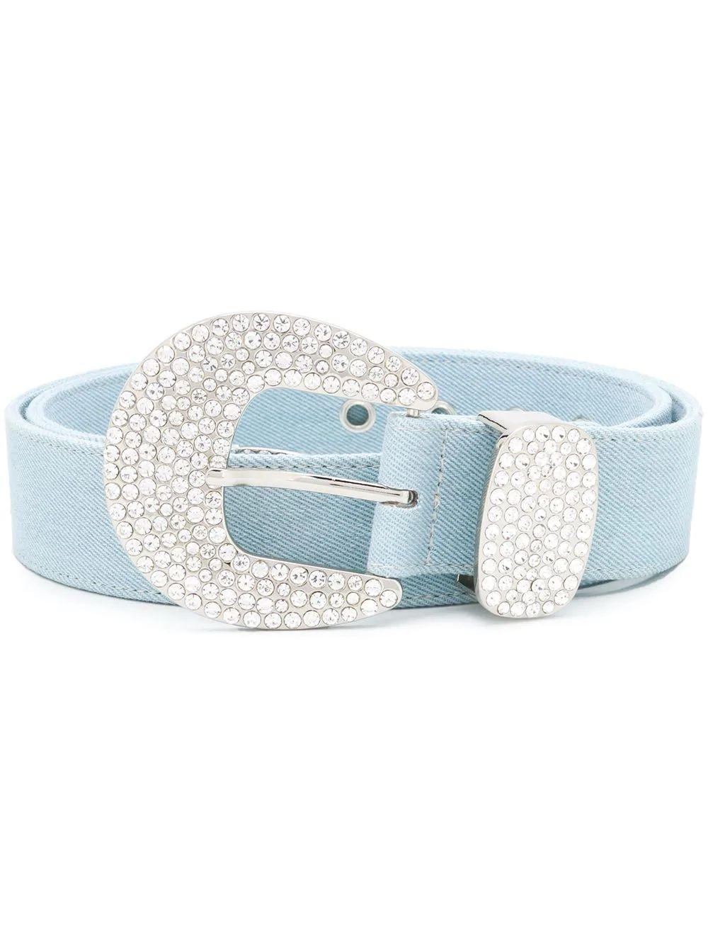 Brittany Denim Crystal Belt