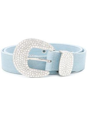 Brittany Denim Crystal Belt