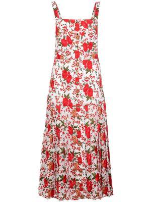 Amal Sleeveless Floral Midi Dress