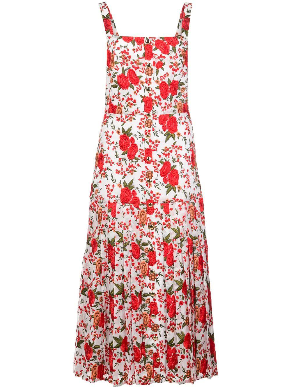 Amal Sleeveless Floral Midi Dress