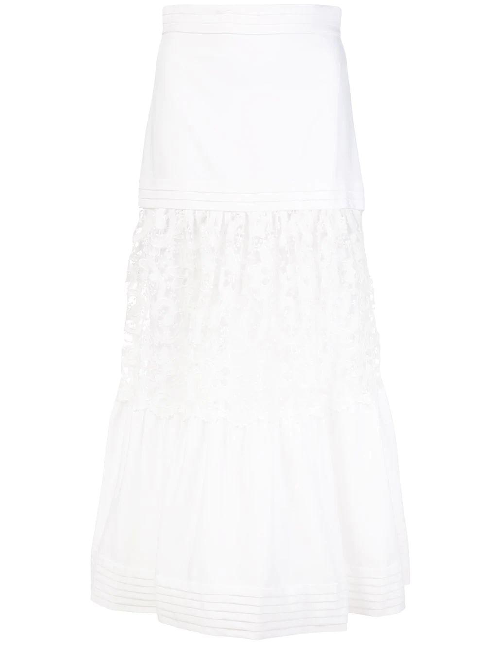 Gwenda Eyelet Midi Skirt Item # A5200902-5908