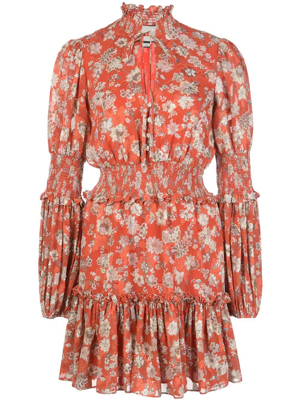 Rosewell 3/4 Sleeve Smocked Floral Dress