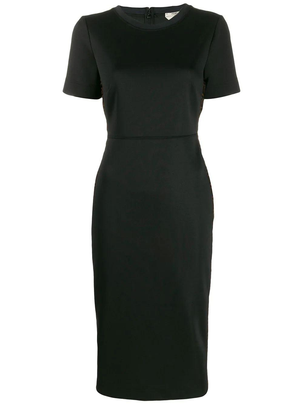 Short Sleeve Pique Jersey Midi Dress