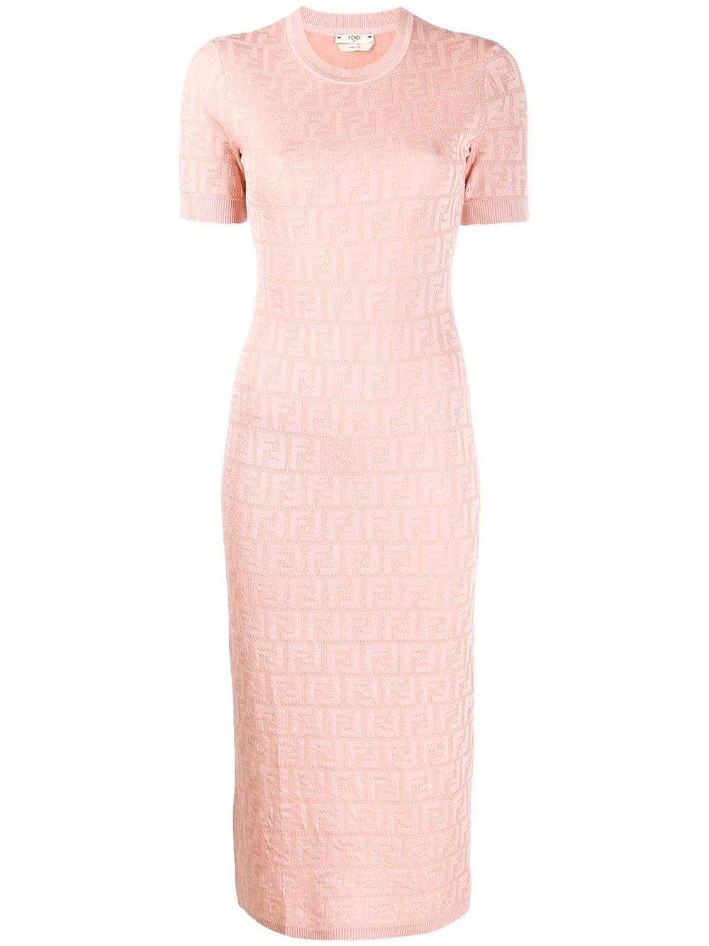 FF Short Sleeve Viscose Cotton Midi Dress