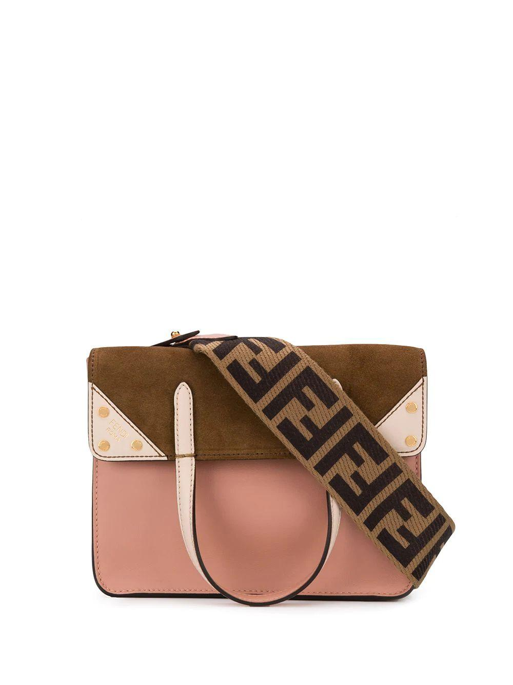 Small Fendi Flip Shoulder Bag With FF Strap