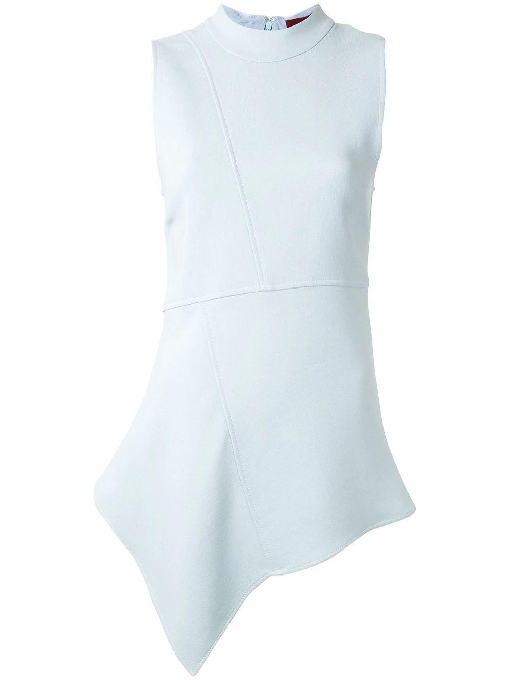 Bianca Sleeve Less Crepe Peplum Top Item # 15LQ3099-7542