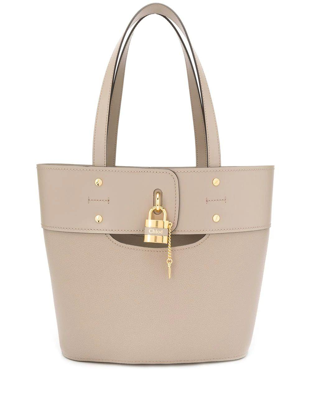 ABY Small Leather Tote With Lock