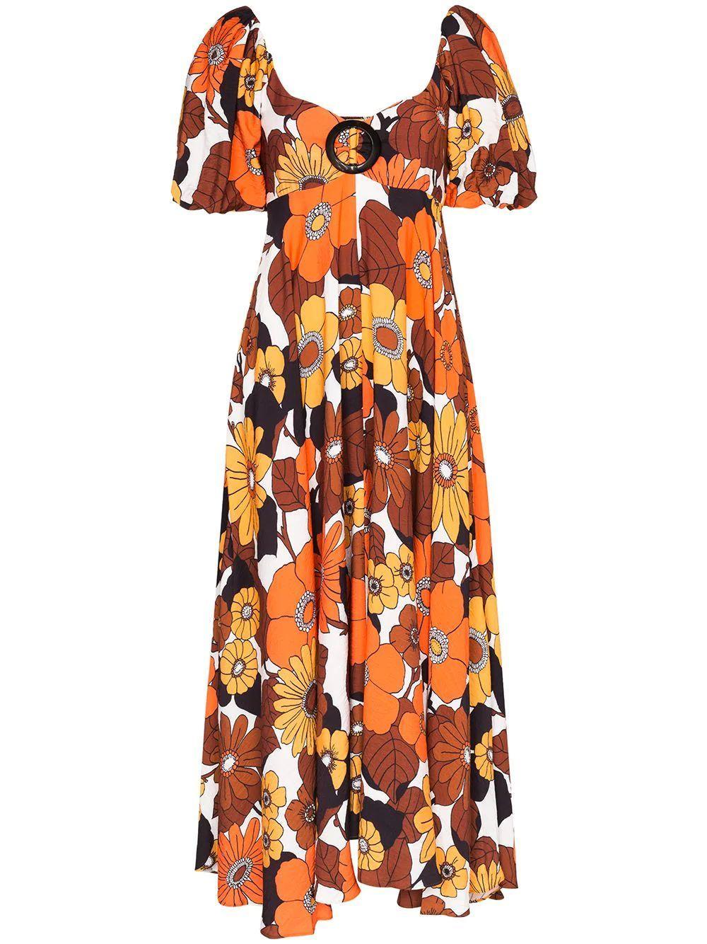 More Flower Print Dress Item # DBO1102