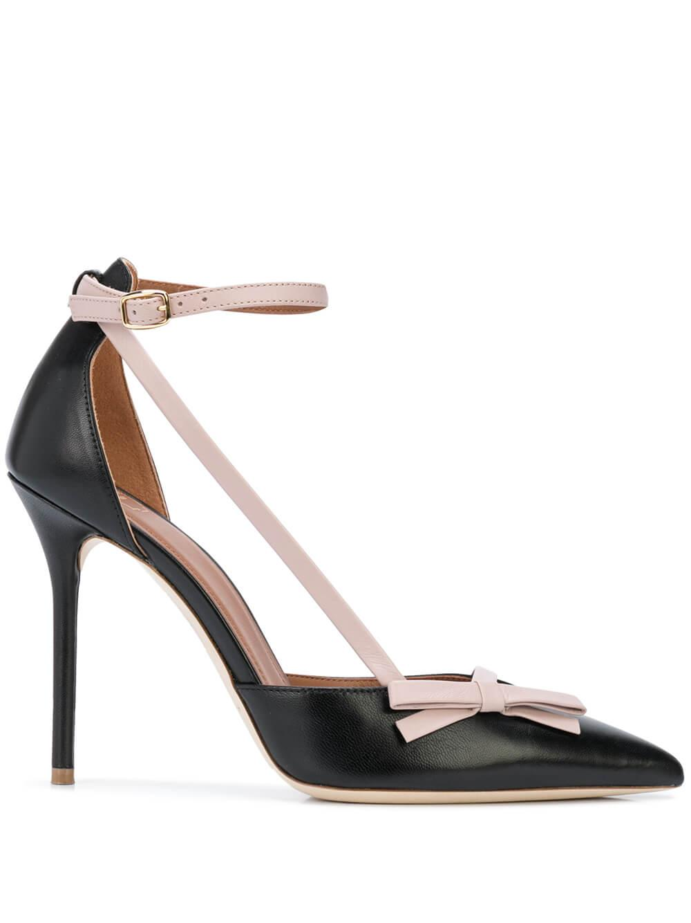 Nappa 100M Ankle Strap Pump With Bow