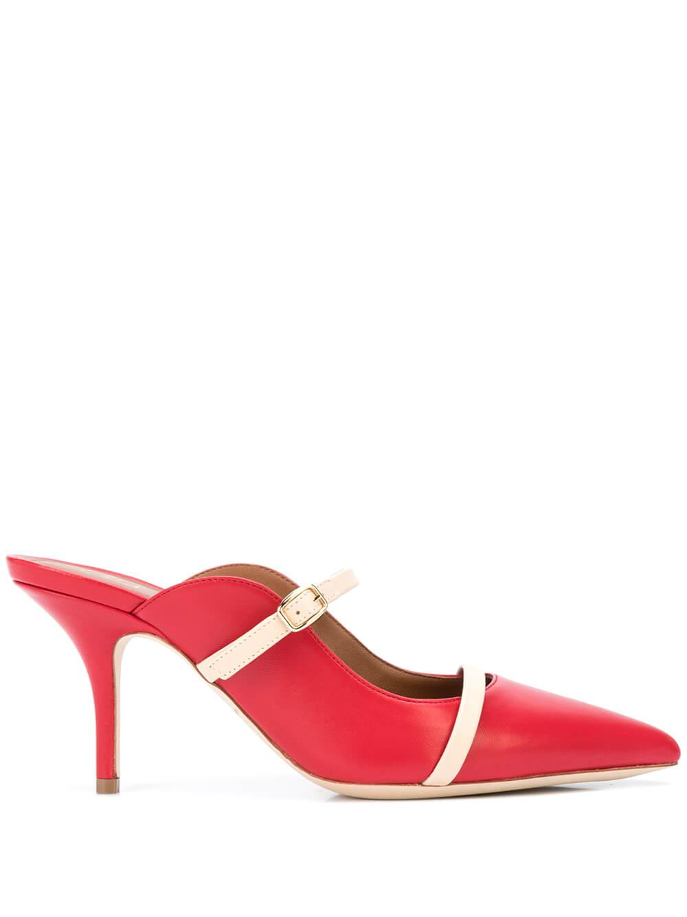 Nappa 70MM 2-Strap Mule With Buckle