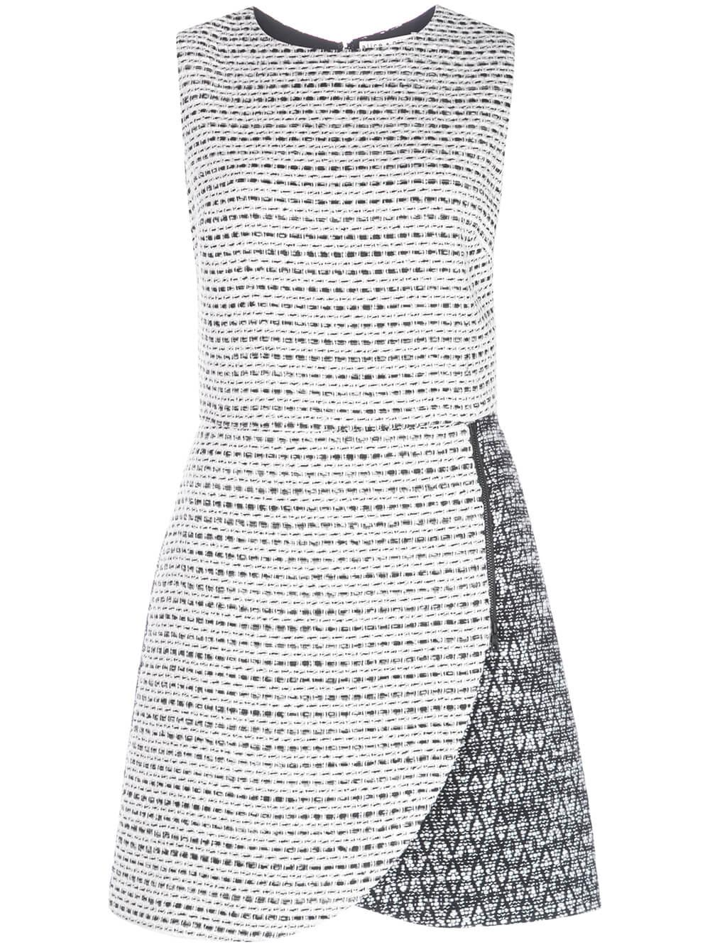 Sally Side Zip Tweed Mini Dress
