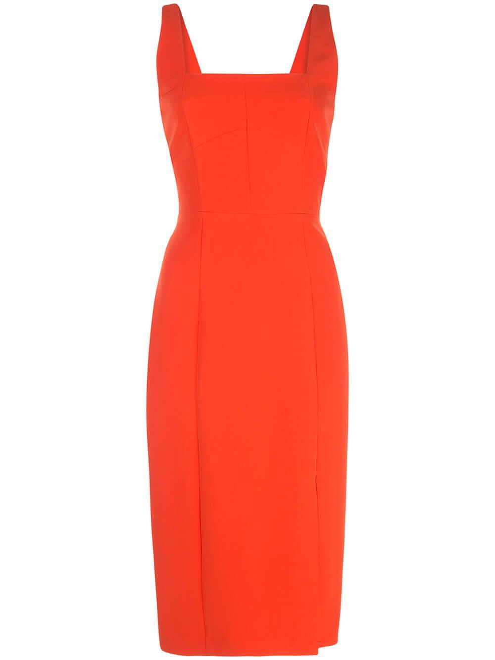 Cady Rita Square Neck Midi Dress Item # 01RD48