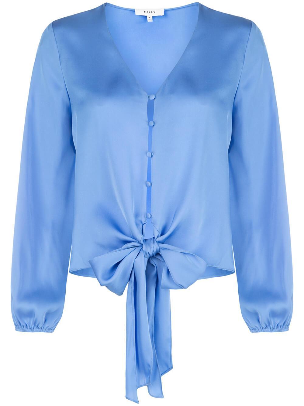 Elizabeth Tie Waist Long Sleeve Top Item # 02RT19