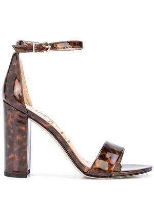 Yaro Patent Tortoise Block Heel Sandal