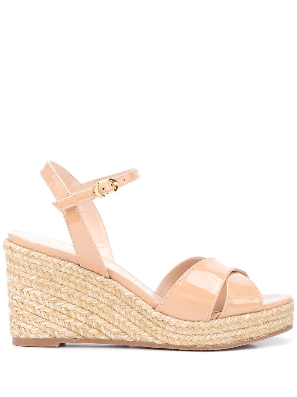 Patent 75mm Wedge Platform Sandal Item # ROSEMARIE