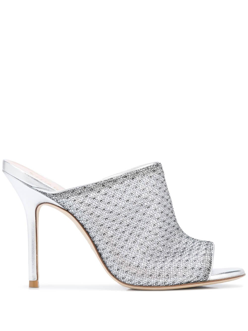 Mesh 100MM Open Toe Mule