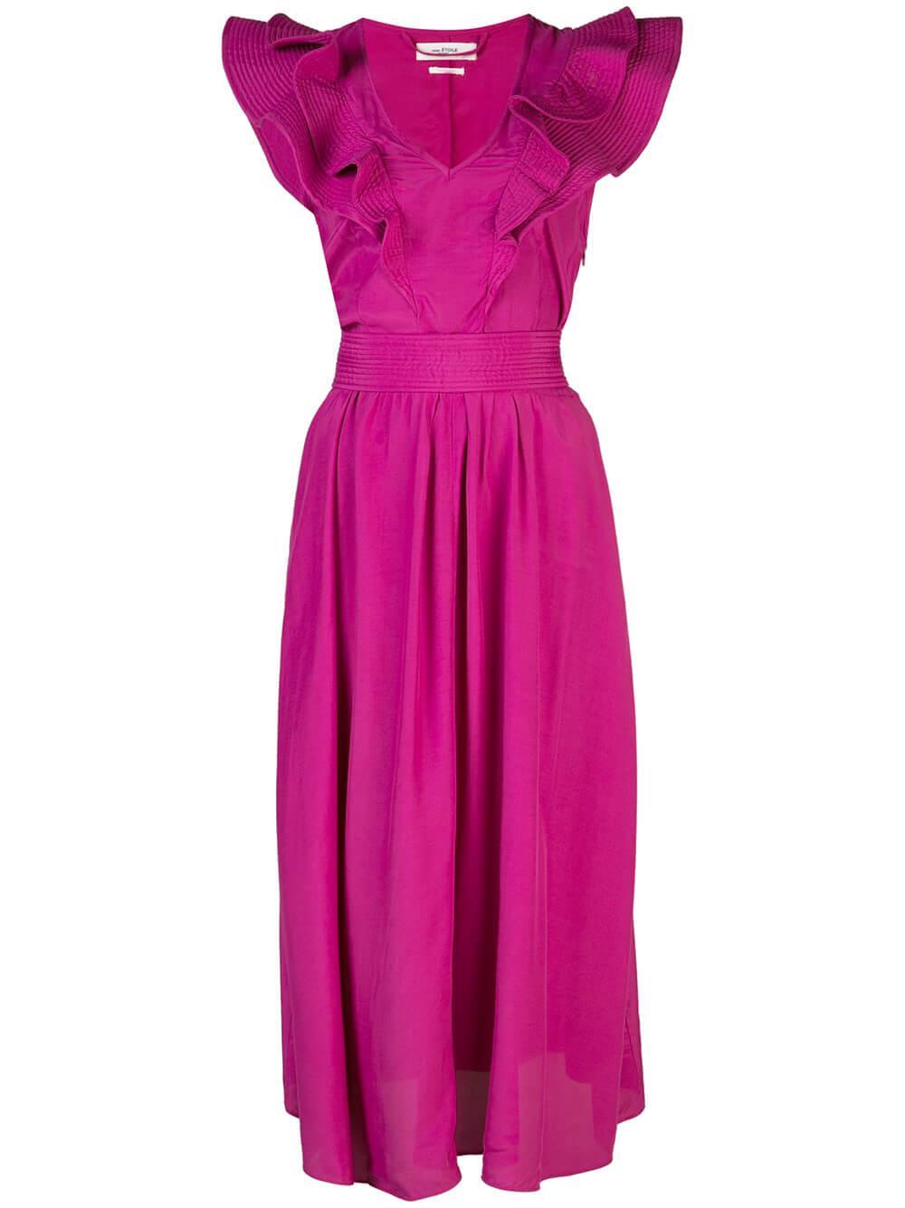 Coraline Solid Midi Dress Item # CORALINE-SOLID