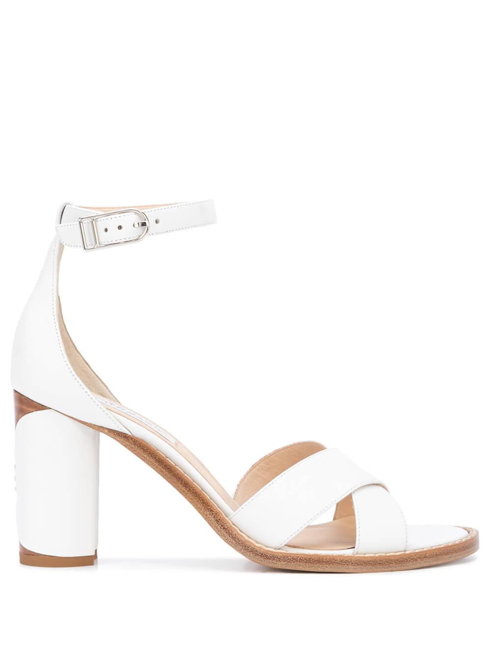 John 80mm Block Heel Sandal With Ankle Strap