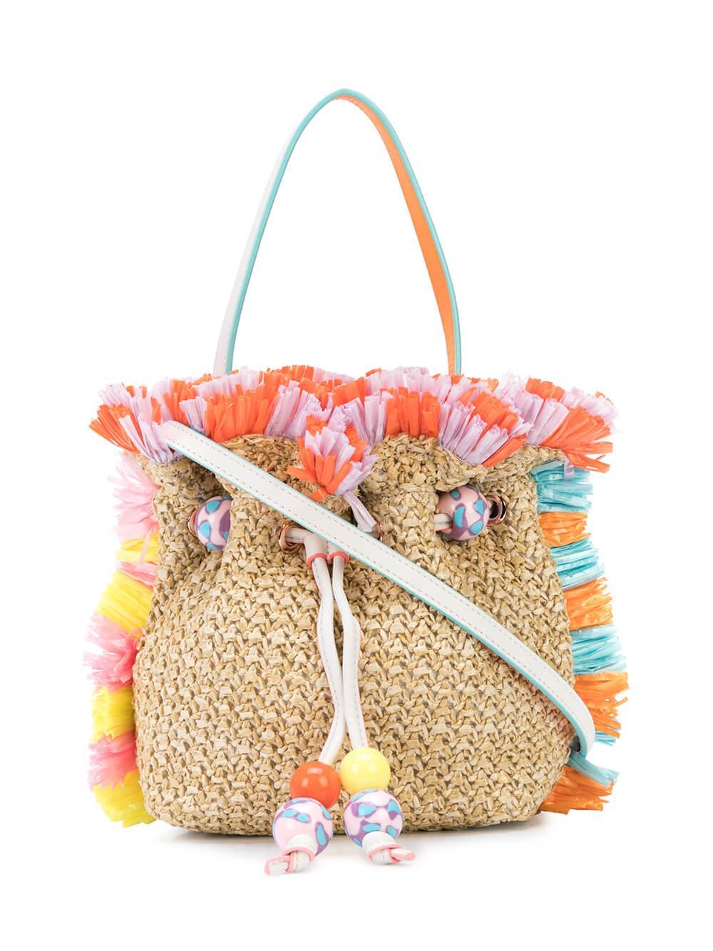 Emmie Raffia Shoulder Bag Item # BSS20037