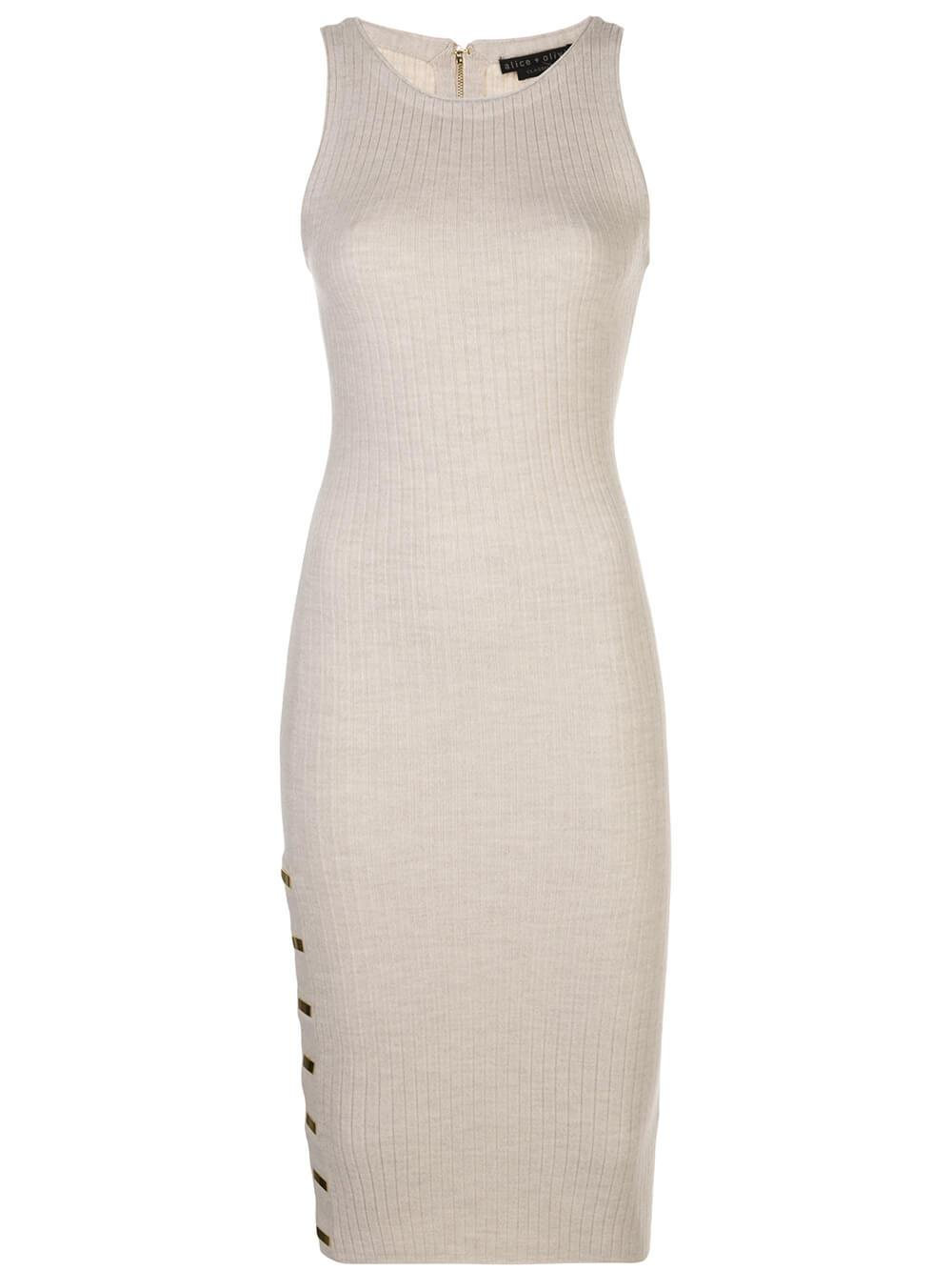 Jenner Crew Neck Slim Knit Dress
