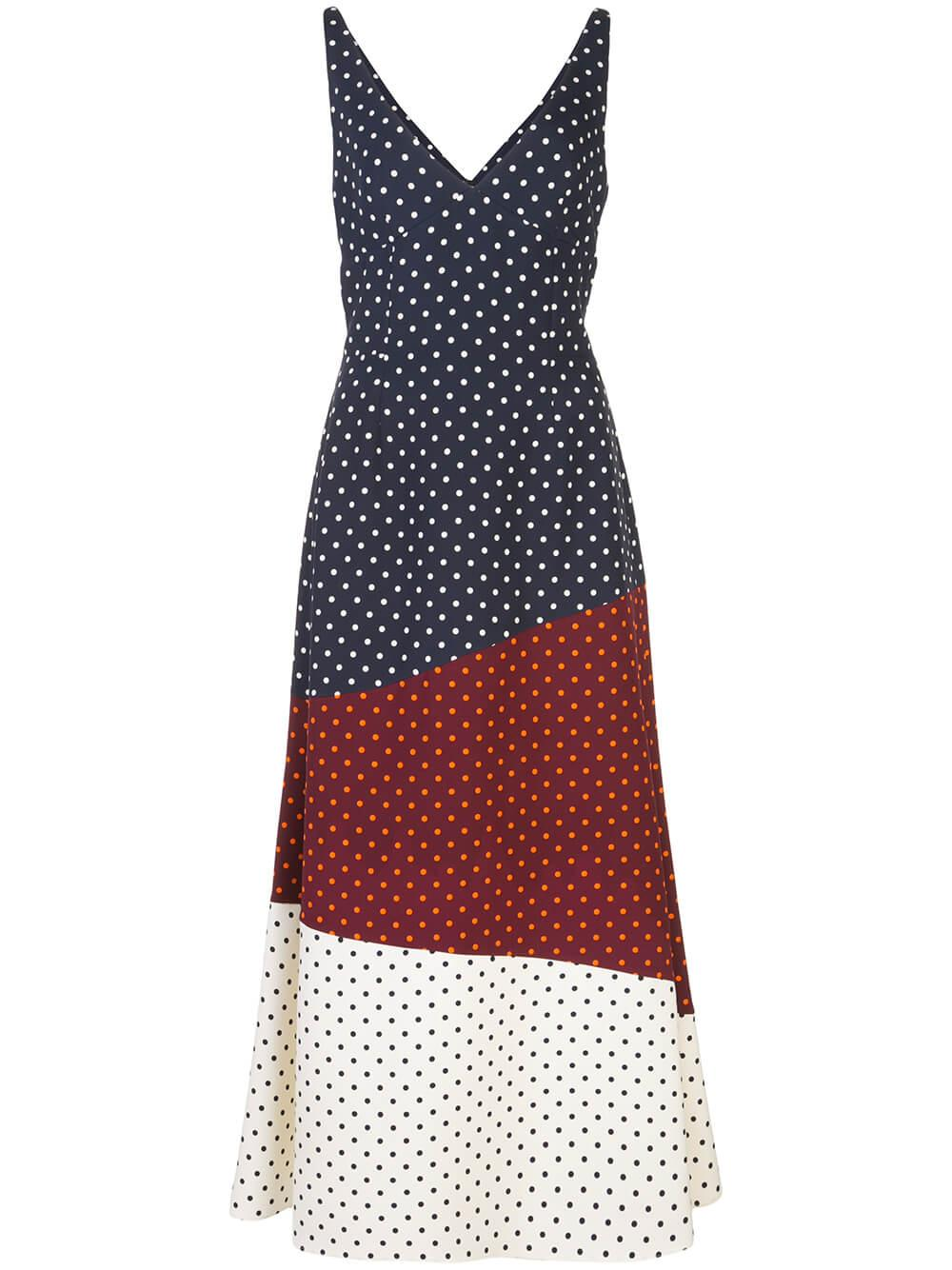 Elliot V-Neck Patchwork Dress