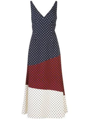 Elliot V-Neck Patchwork Dress