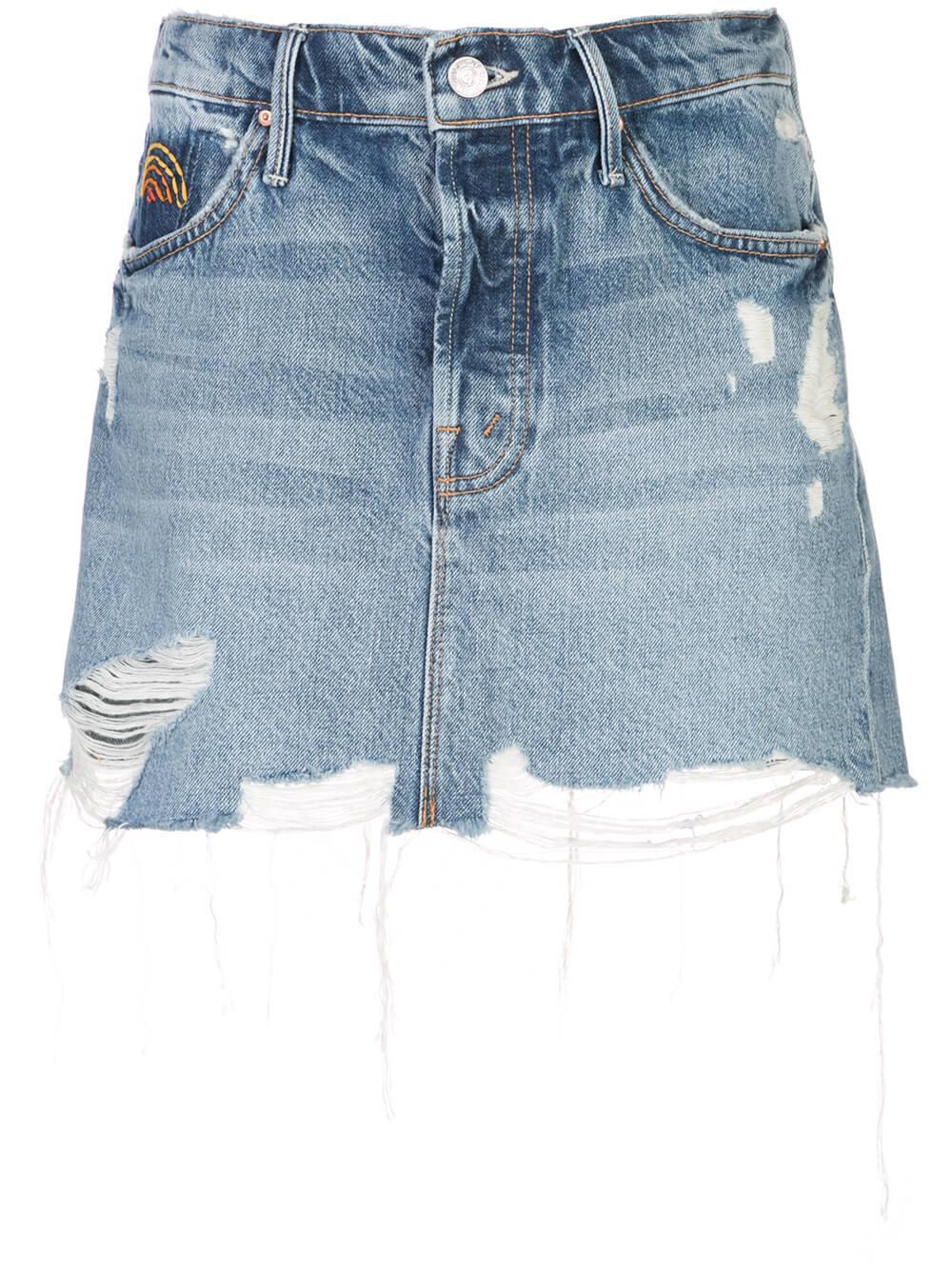 Vagabond Mini Jean Skirt Item # 9241-313
