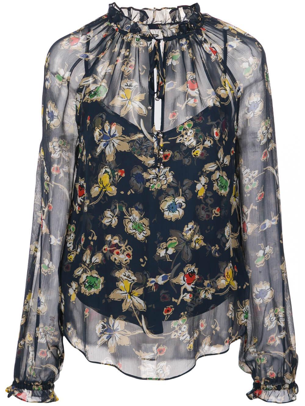 Antonette Long Sleeve Floral Print Blouse Item # 2001CHF074664
