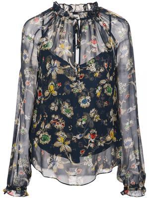 Antonette Long Sleeve Floral Print Blouse