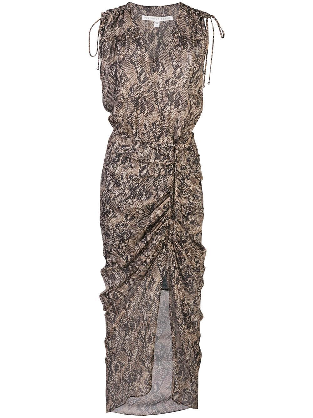 Teagan Sleeveless Python Print Midi Dress Item # 2001GGT012264