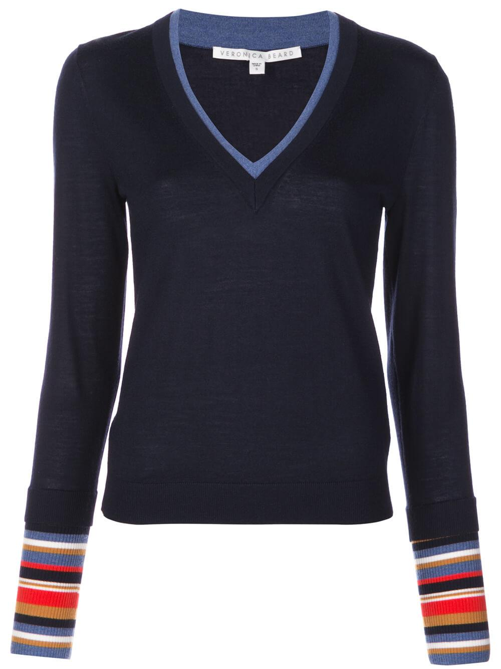Avory Long Sleeve V- Neck Sweater Item # 2001KN0879258