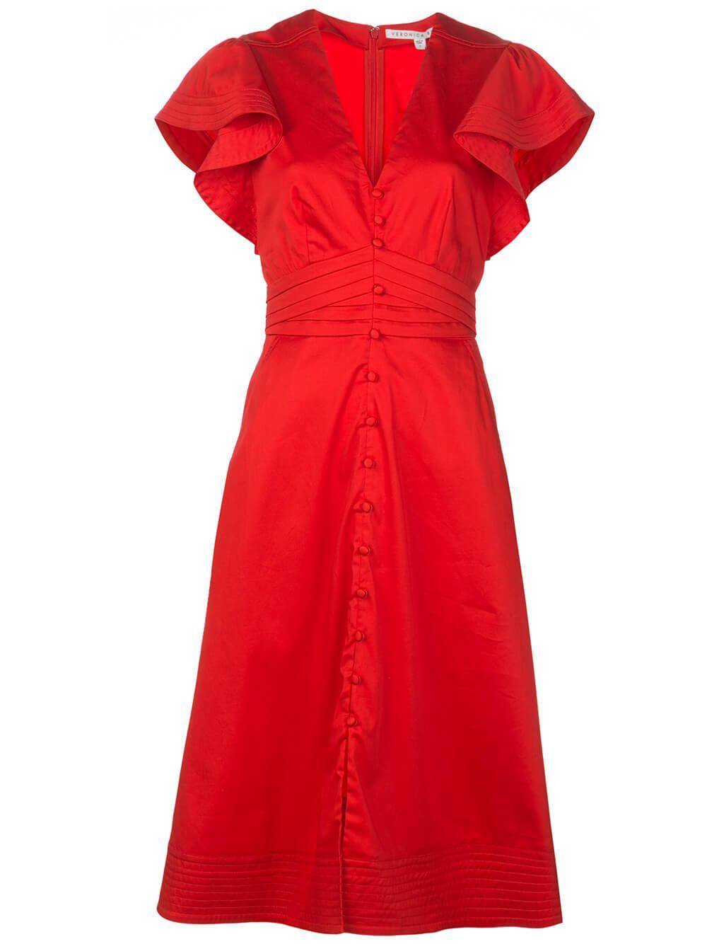 Sada Ruffle Sleeve Shirt Dress