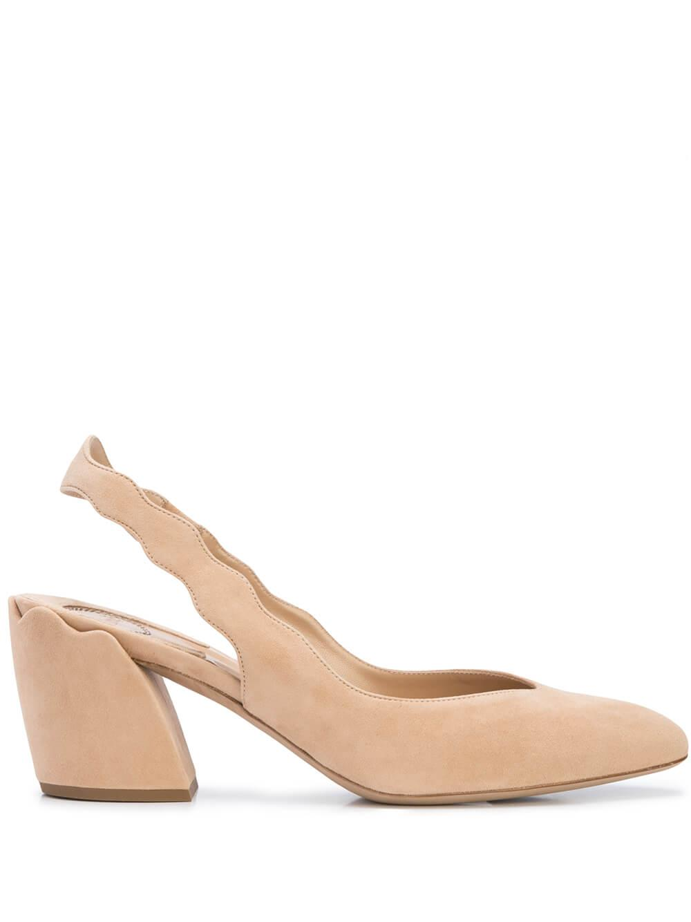 Laurena Suede 60mm Sling Back Pump Item # CHC20S2870126U
