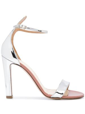 Mirror Leather 105mm Sandal With Ankle Strap