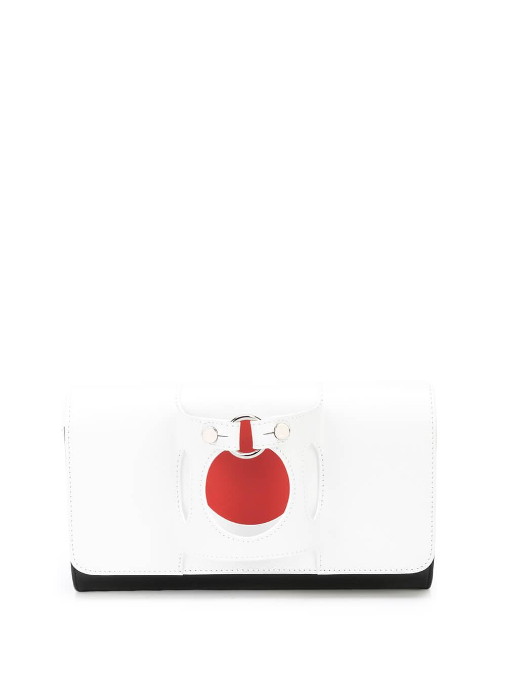 Orbit Clutch With Silver Detail Item # ROND5BOXMARS