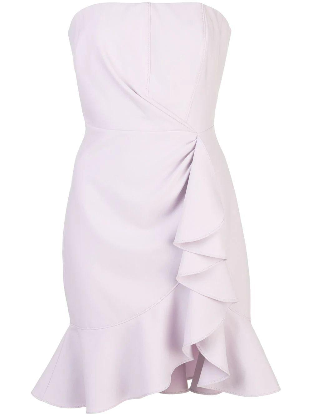 Cassandra OTS Ruffle Drape Mini Dress